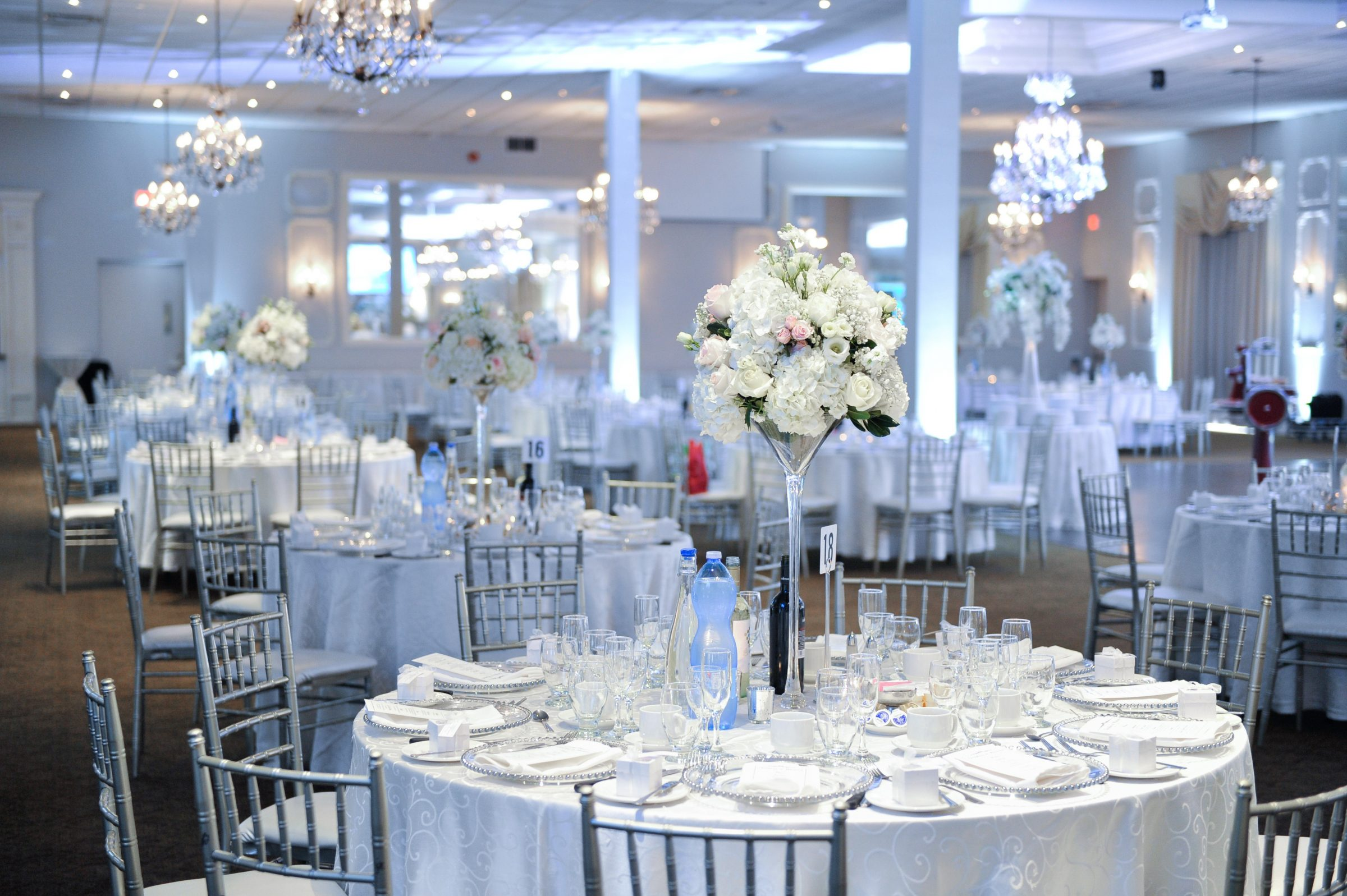 Stunning White and Blush Tables