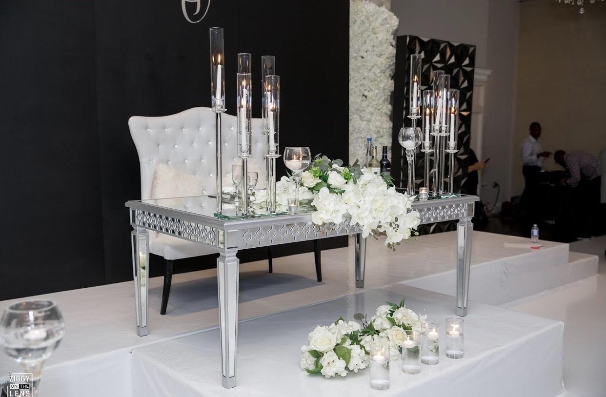 Modern Black and White wedding theme