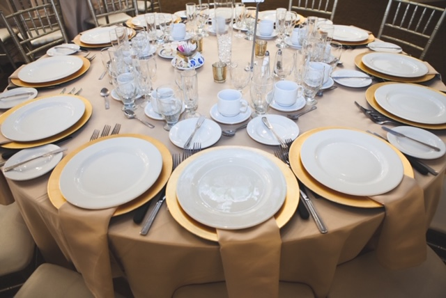 Gold Charges table setting