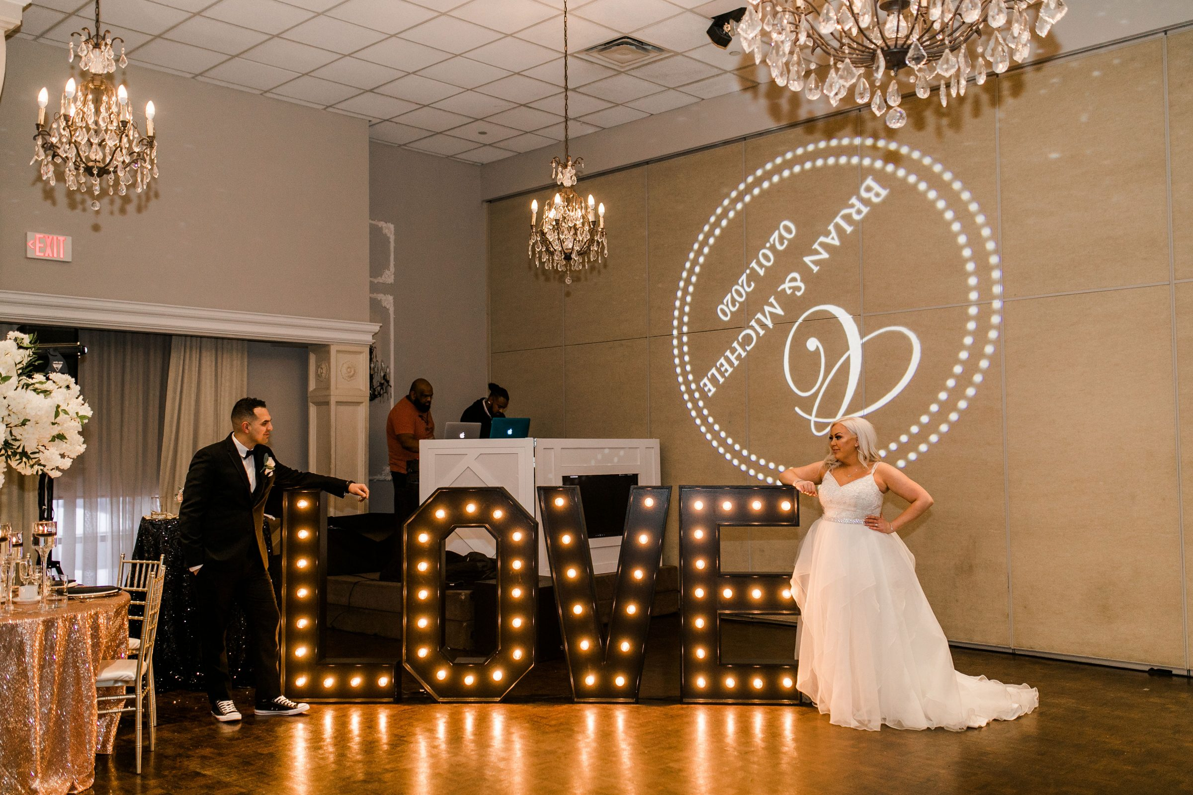 Love Light floor feature for Wedding