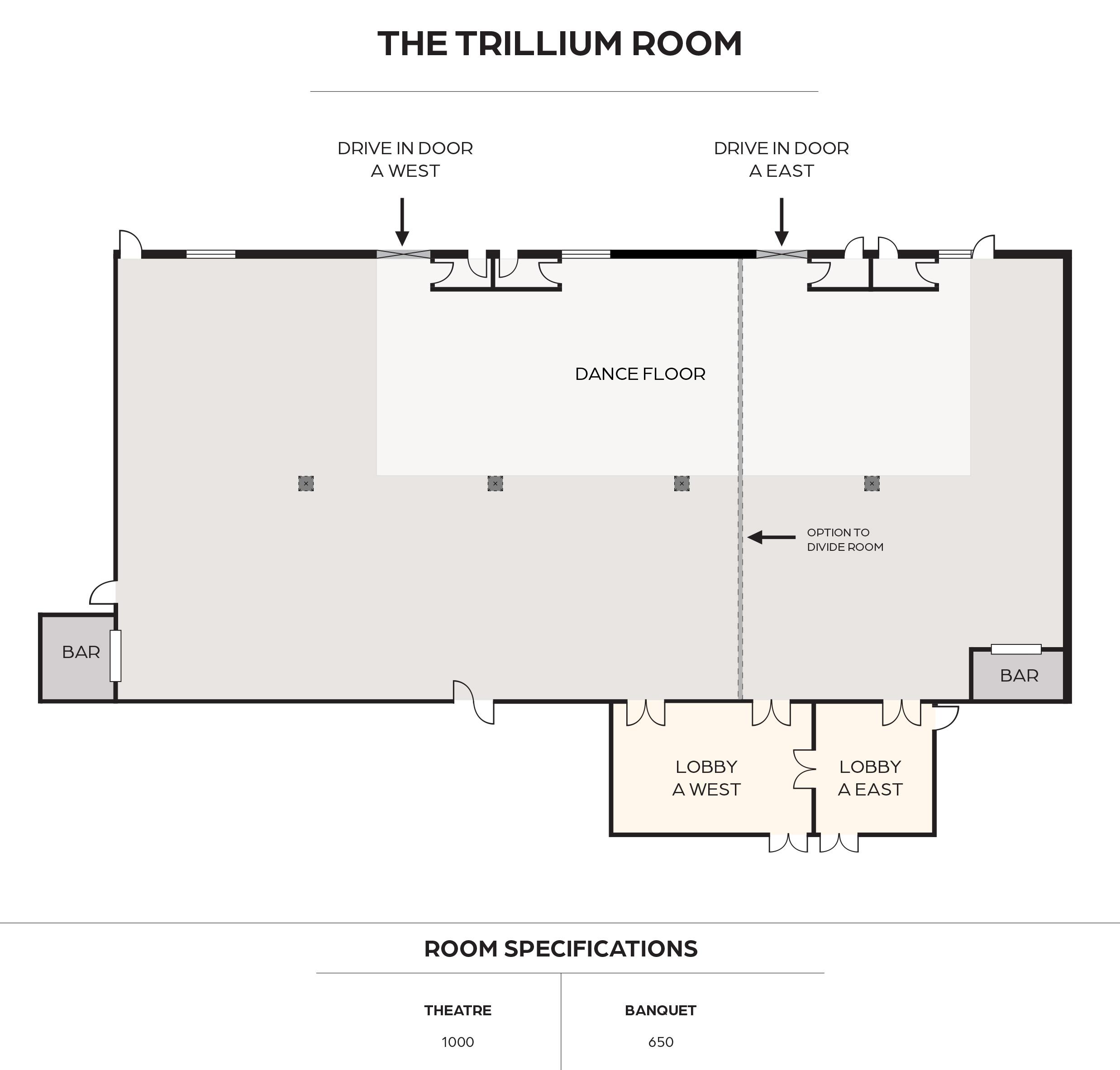 The Trillium Room Floorplan